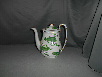 Vintage Wedgwood China Chinese Green Tigers Coffee Pot with Lid MINT