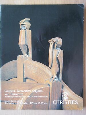 Christie's South Kensington Auction Catalogue Carpets Decorative Objects 1993
