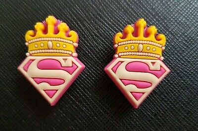 2 x Super Girl Shoe Charms Made For Croc shoes Crocs Jibbitz Charm