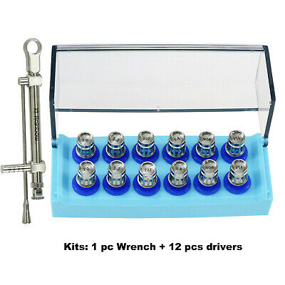 NEW Dental Implant Wrench Ratchet with Drivers Torque Wrench Kits 10-70NCM