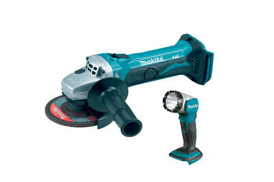 Makita DGA452Z 18v 115mm LXT Angle Grinder Body with DML802 Torch