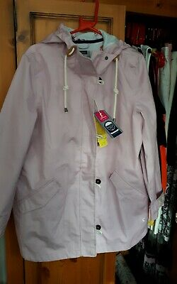 Joules Coast Mid Waterproof Cotton Canvas Coat Size 16 New /Tags RRP £109