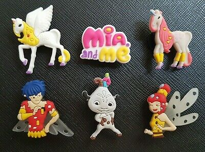 6 x Mia and Me Shoe Charms Made For Croc shoes Crocs Jibbitz Charm