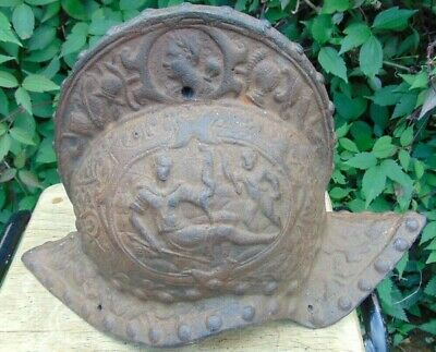 Antique Victorian Cast Iron Moorish Conquistador Helmet