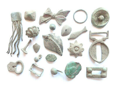 Lot of Misc. Ancient Bronze / Silver Artifacts