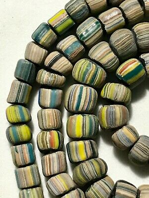 Indo Ancient Bead Rare Tibetan Tibet Agate Pacific Necklace Bracelet Old Rare #1