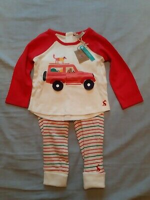 Joules Baby Mack Novelty Top And Trouser Set in Red Car