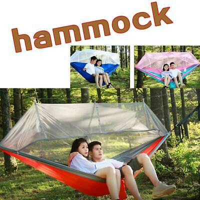 Outdoor Hammock Mosquito Net Bed Camping Hanging Person Double Travel Tent New