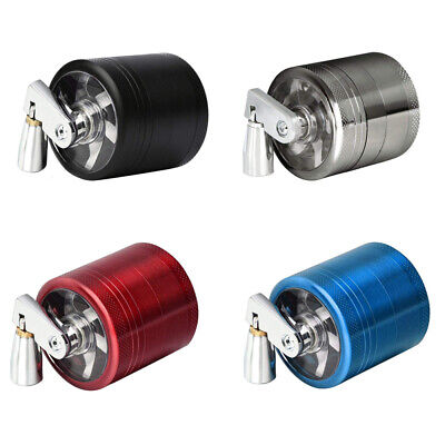 UK 40mm 4 Part Mill Metal Herb Magnetic Grinder Pollinator Crusher New