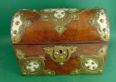 Antique Victorian Domed Top Stationary Casket and blotter