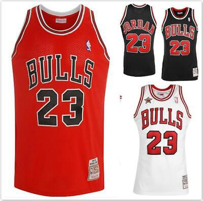 NBA Jersey Shirt Chicago Bulls Michael Jordan No23 Black White Red