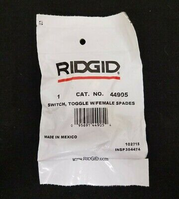Ridgid Switch Toggle w/ Female Spades Cat # 44905