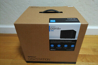 NIB ~ Synology DiskStation DS918+ 4-Bay Diskless NAS Network Attached Storage