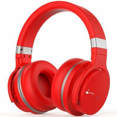 Over Ear Bluetooth Headphones Wireless Noise Cancelling 30 Hours Playtime RED
