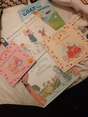 Collection of 5 Children's  books including We're going on a bear hunt