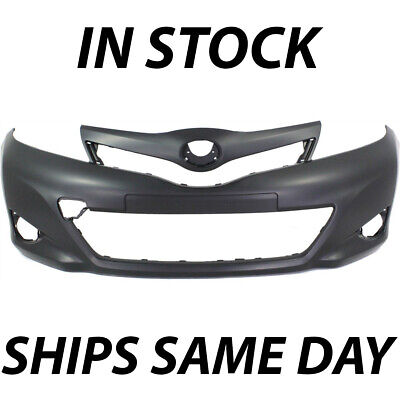 Primed Front Bumper Cover Replacement for 2012-2014 Toyota Yaris Hatchback