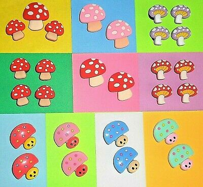 Mushroom Shoe Charms Shoe Buttons Plugs Accessories Shoe Decorations