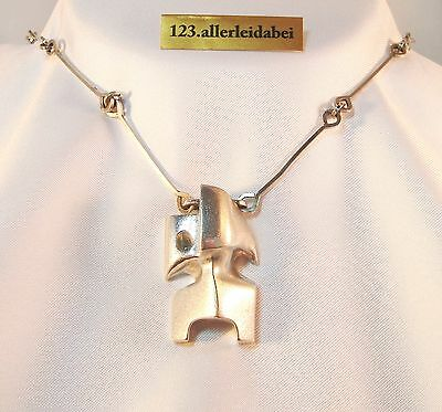 Wundervolles Lapponia Collier Zombi 925 Silber Modernist Kette 1982  / AN 229