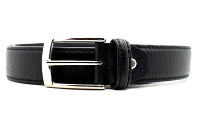 Darcis Classic Mens Real Leather Belt Handmade in Italy Black Size 34
