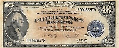 Philippines  10  Pesos  Victory Series ND. 1944  P 97a  Circulated Banknote Me16