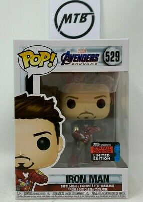 FUNKO POP MARVEL AVENGERS ENDGAME IRON MAN 529 NYCC EXCLUSIVE thanos thor spider