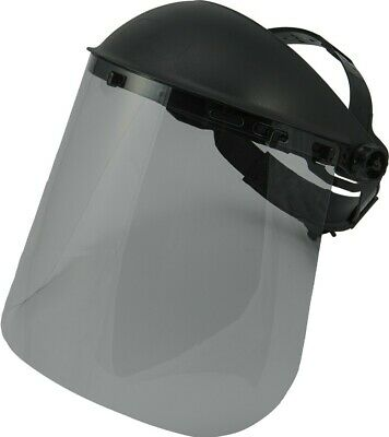 Majestic 85-6101SMK Gray Face Shield Visor, Universal, New, Free Shipping