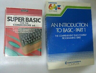 commodore 64 Introduction to Basic Part 1 & Super Basic tapes tested working c64