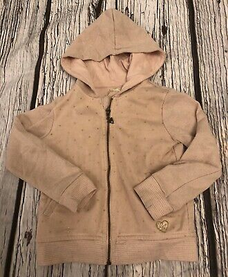 Age 3 Girls Designer Guess Blush Pink Zipped Hoodie Looks Unworn 2-3
