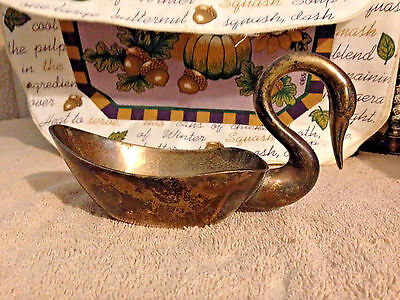 William Adams Towle Silverplate Swan Bowl Candy Nuts Condiment Serving Art Decor