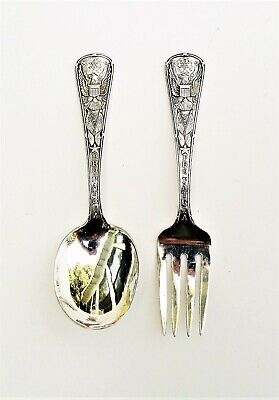 "Dominick & Haff ""Pro Patria"" Baby Fork and Spoon Set"
