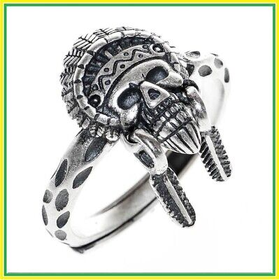 Rings Women Real 990 Sterling Silver Face Punk Open Stacking Girl Gift Ethnic