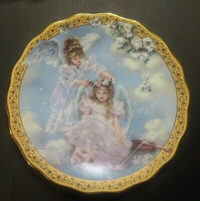 Sandra Kuck Perfect Place Gardens of Innocence collector plate angels Reco