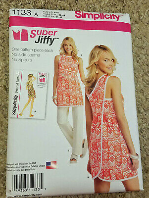 NEW UNCUT Simplicity Sewing Pattern 1133 Misses Womens Vintage Wrap Dress Tunic