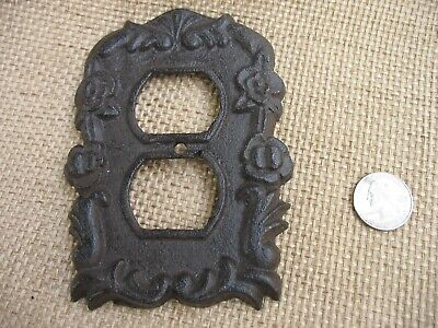 Heavy Duty Ornate Cast Iron/Metal Electrical Outlet Cover Plate