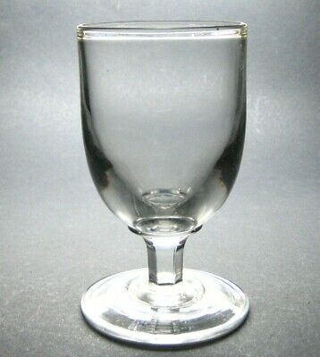 Antique Georgian Early Victorian Hand Blown Large Rummer Drinking Glass