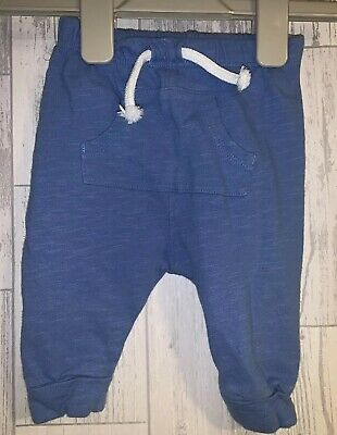 Boys 0-3 Months - Next Blue Jogging Bottoms