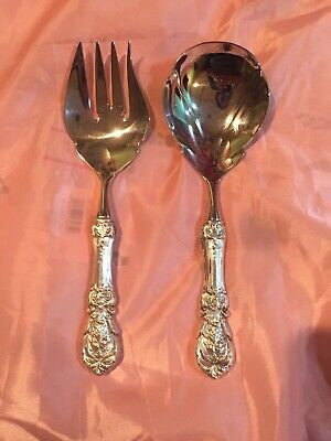 Hollow Handle Sterling Salad Set By Reed and Barton - Francis I