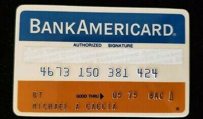 BankAmericard First National Bank Chicago Credit Card exp 75♡Free Shipping♡cc117