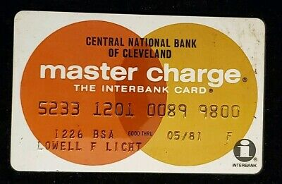 1981 Central National Bank of Cleveland MasterCard  ♡Free Shipping♡cc162♡