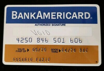 BankAmericard BT Credit Co NY Credit Card exp 76♡Free Shipping♡cc119
