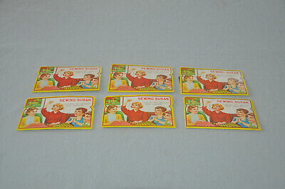 Lot of Six (6) Vintage Sewing Susan Needle Book