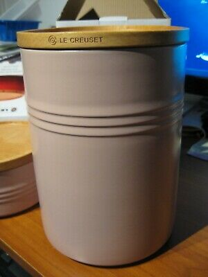 Le Creuset XXL 2.5 QT Canister With Wood Lid / Sugar Pink Storage Jar