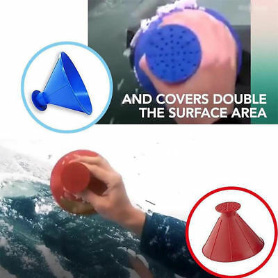 Windshield Snow Scraper Shovel Useful Tool Cone-Shaped Funnel Removal Blue WH3