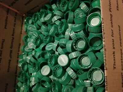 1,000 Green Plastic Bottle Caps USED Coke Coca Cola Craft Projects