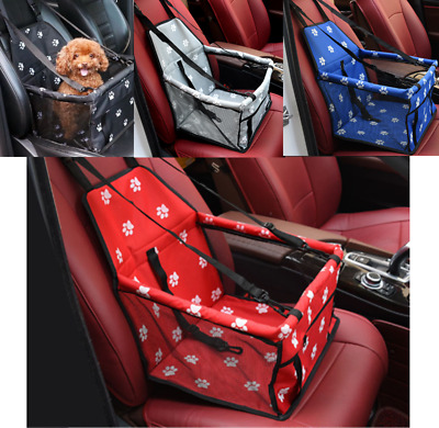 Folding Pet Dog Cat Car Seat Travel Carrier Puppy Handbag Side Bag Safety Basket