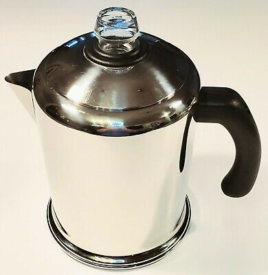 Heavy Duty Stove Top Percolator Yosemite Coffee Pot Maker 8-Cup Stainless Steel