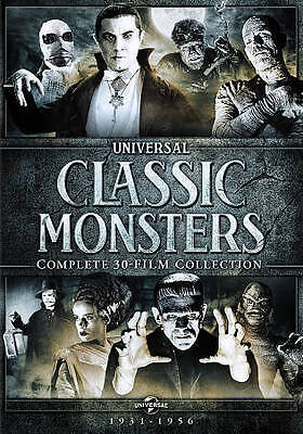 Universal Classic Monsters, Complete DVD Collection, Frankenstein, Dracula, etc.