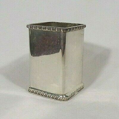 SHEFFIELD REPRODUCTION Silver Plate Square Vase/Pencil Holder 4-25-14