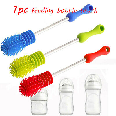 Scrubbing Cup Baby Nipple Feeding Bottle Brush Cleaning Tool 360-degree