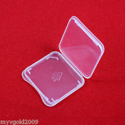 10 pcs SD Card Protect Plastic Case Holder,Jewel Cases, SDHC,SDXC Card Case,New